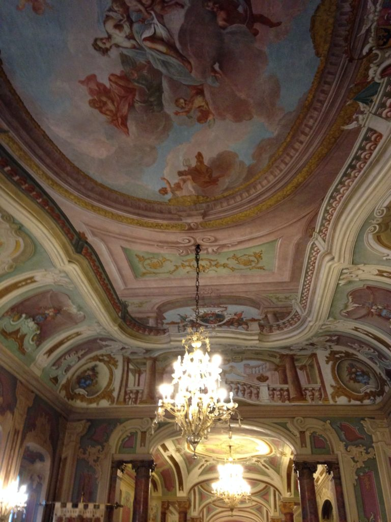 Affreschi del soffitto del Salone Estense, nella sede del Comune di Varese